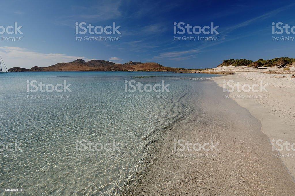 trasparency water in Sardinia beach royalty-free stock photo