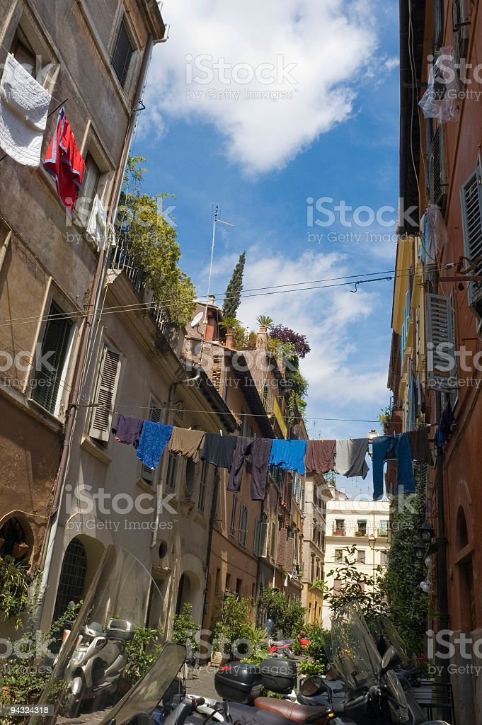 Trastevere street scene, Rome royalty-free stock photo