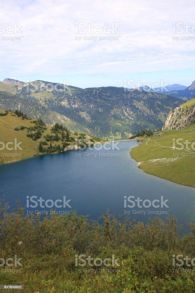 Traualpsee in den Tannheimer Alpen stock photo