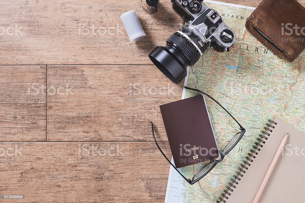 travel accessories stock photo