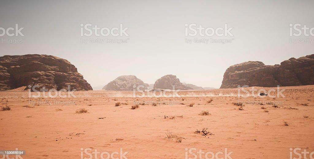 Travel across the desert royalty-free stock photo