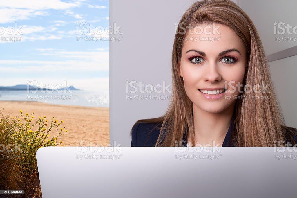 travel agent stock photo