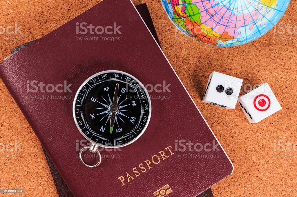 Travel and gamble. Compulsive gambling preparing for appointment stock photo