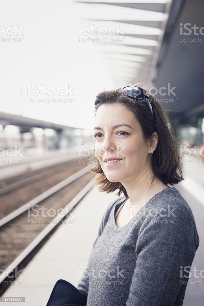 Travel - At the Railway Station royalty-free stock photo