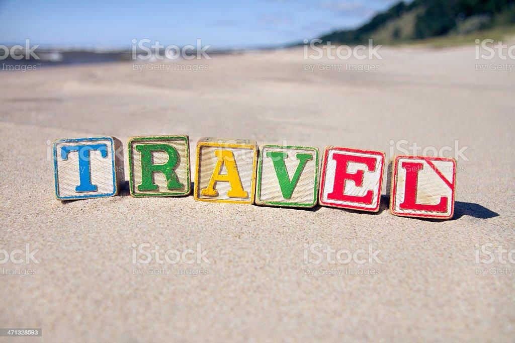 Travel Blocks stock photo