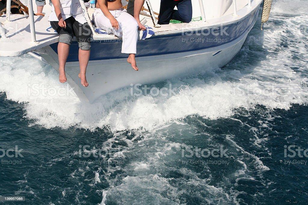 Travel boat royalty-free stock photo