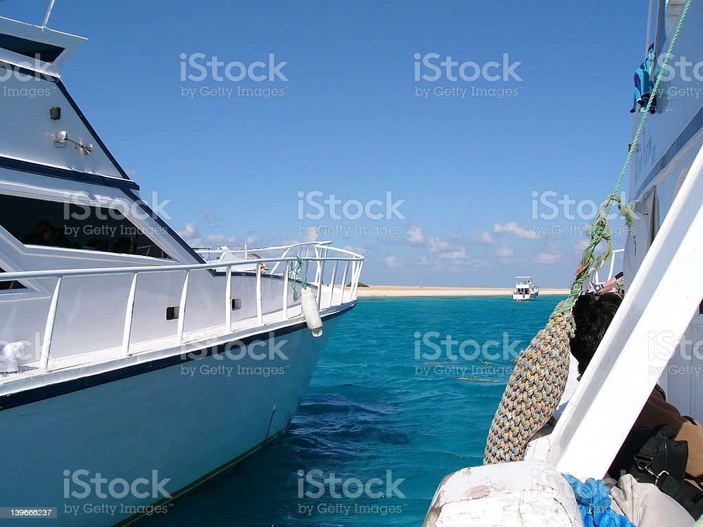 Travel boats view royalty-free stock photo