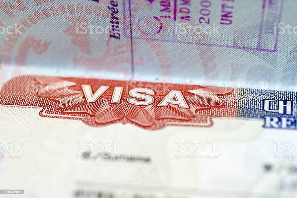 Travel: Brazillian Visa stock photo