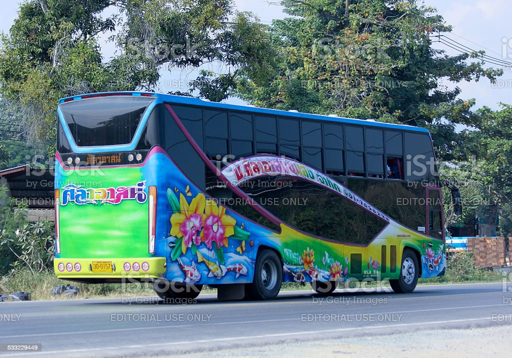 Travel bus of Silaat Transport Company stock photo