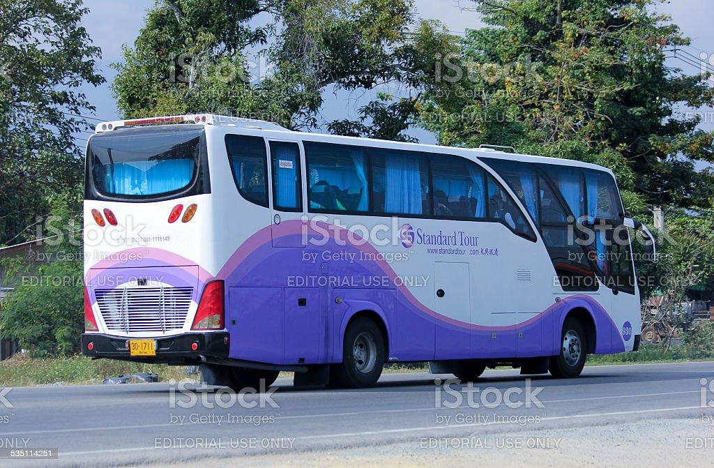 Travel bus of Standard tour stock photo