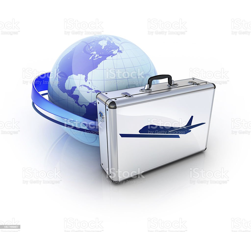 travel by air globally stock photo