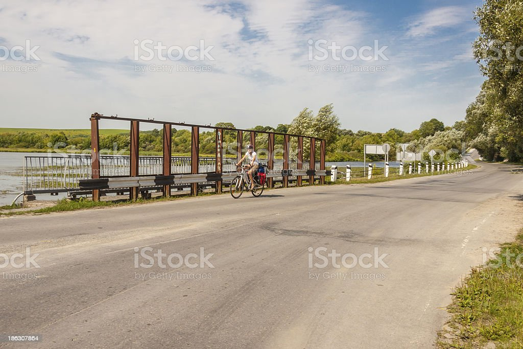 Travel by bicycles - Ukraine. royalty-free stock photo