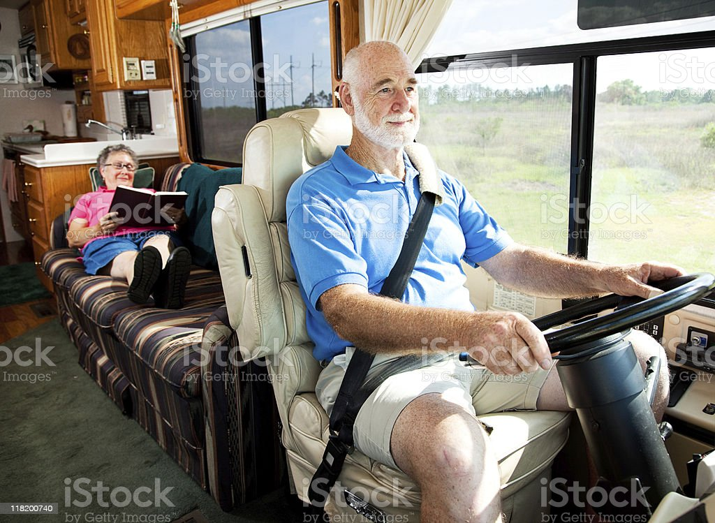 Travel by Motor Home royalty-free stock photo