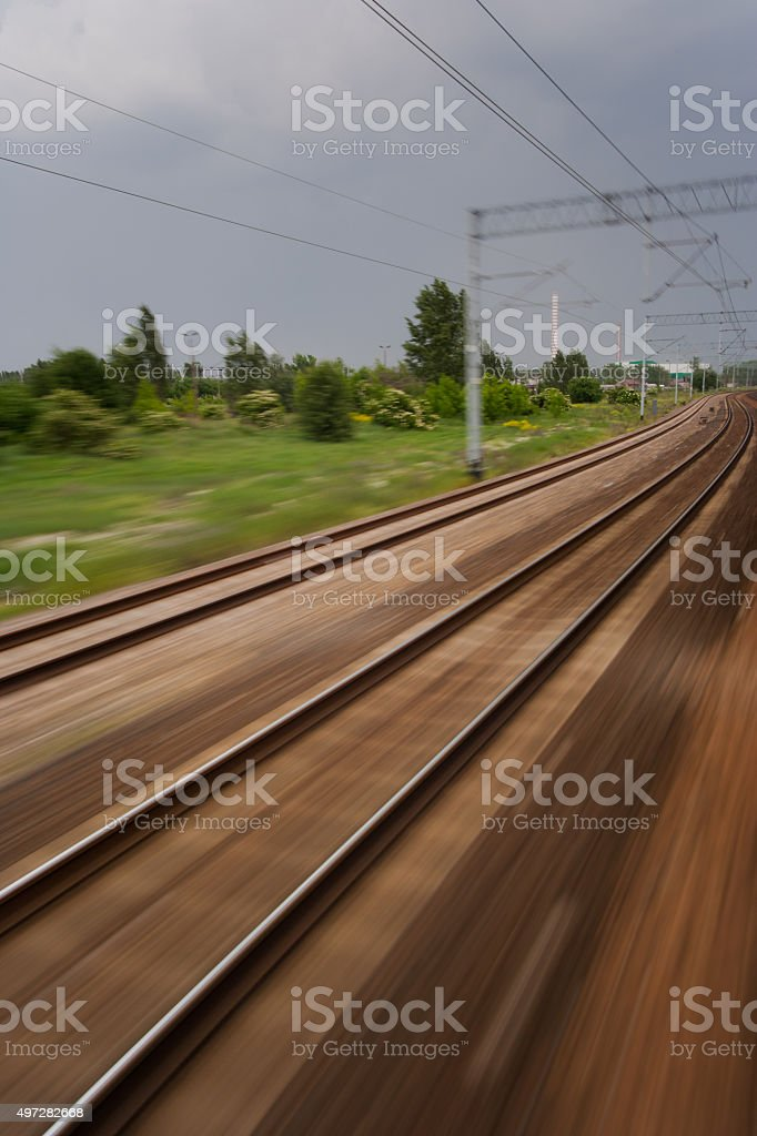 Travel by Train stock photo