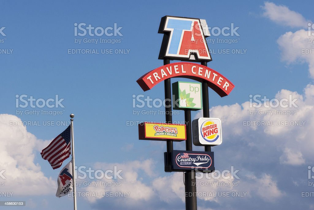 Travel Centers of America Sign stock photo