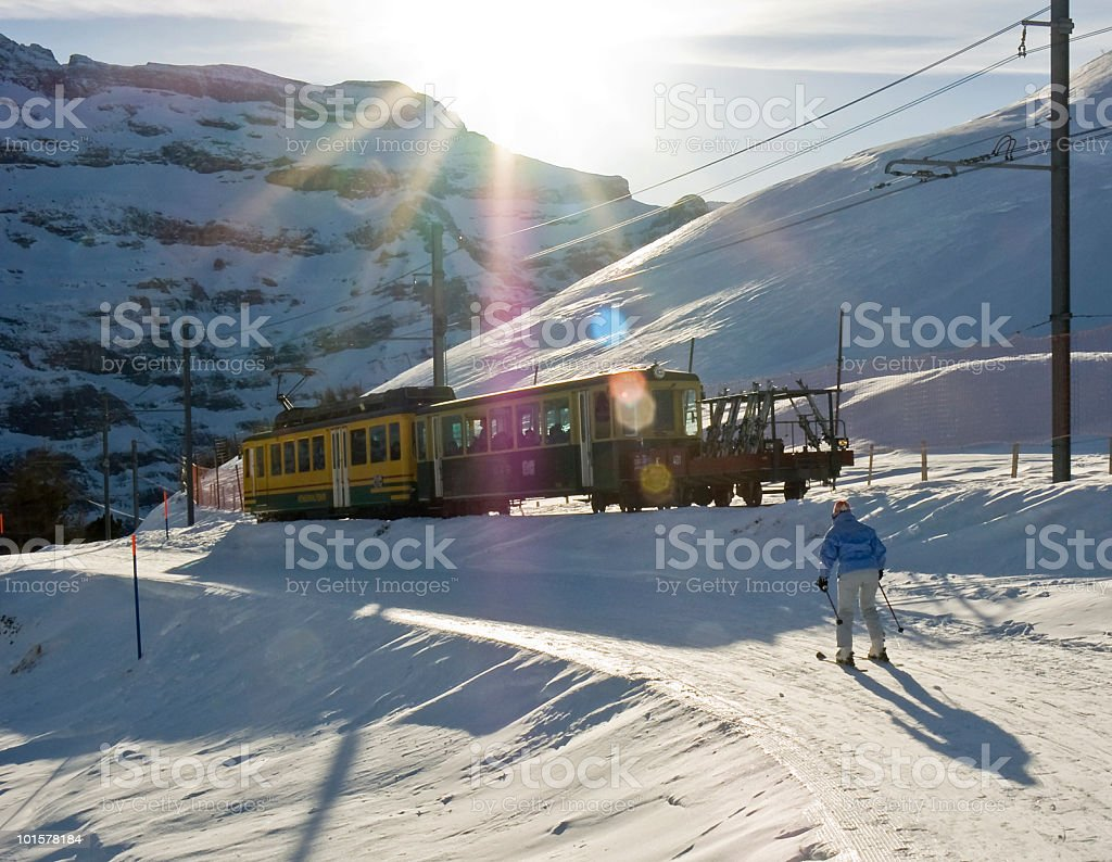 Travel; Chasing the train royalty-free stock photo