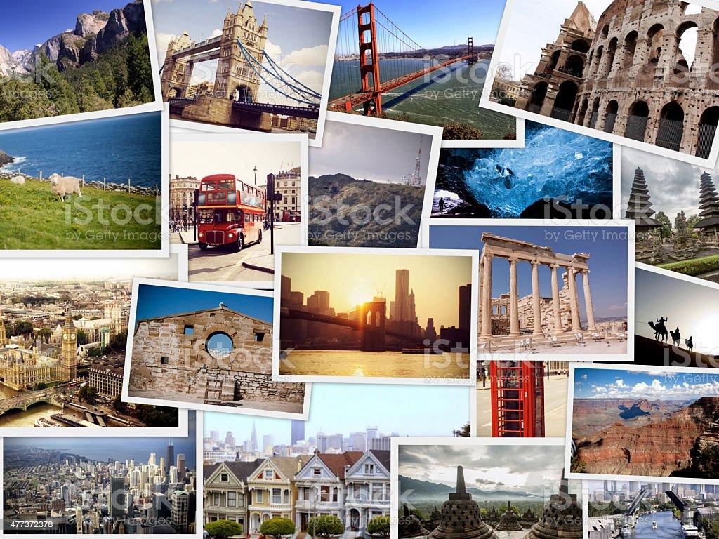 Travel Collage - World images stock photo