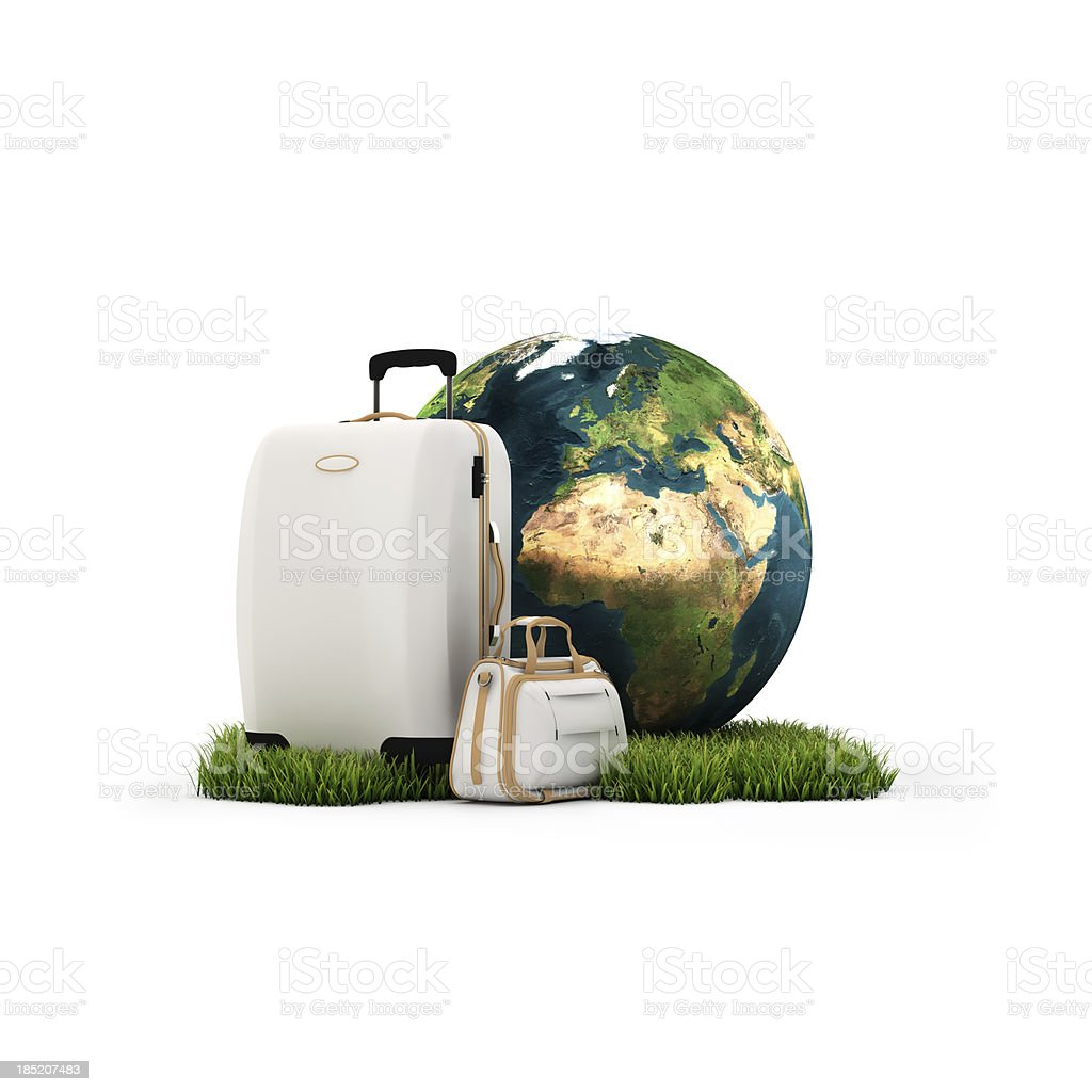 Travel concept isolated on white background royalty-free stock photo