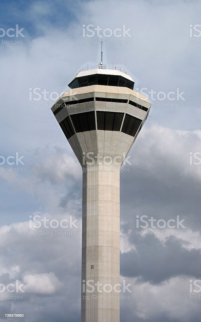 travel - control tower Perth airport stock photo