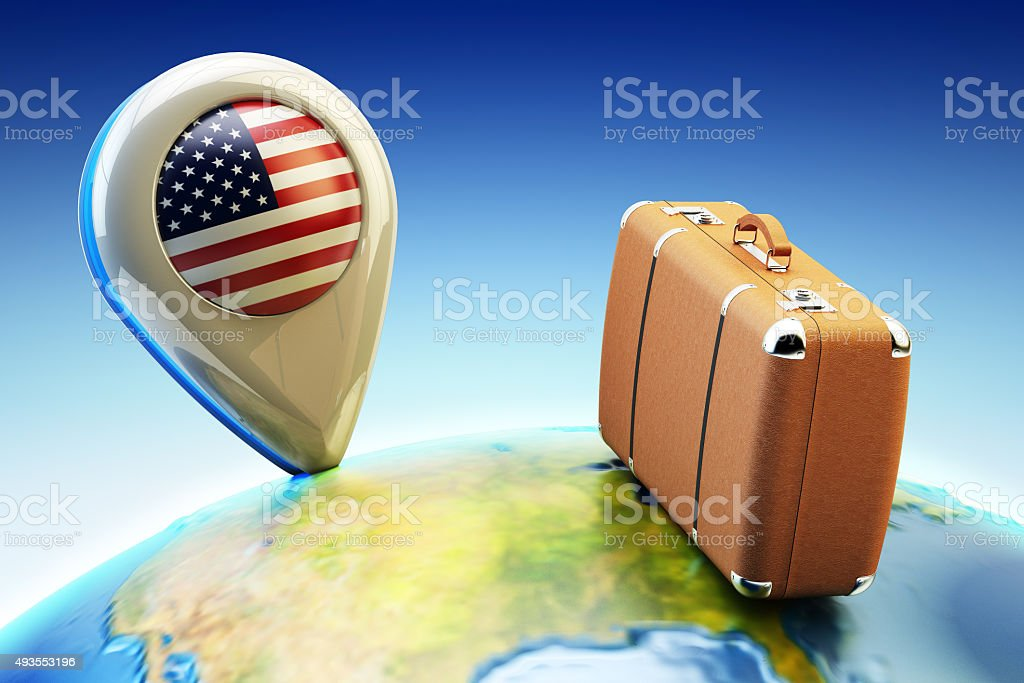 Travel destination and global tourism concept stock photo
