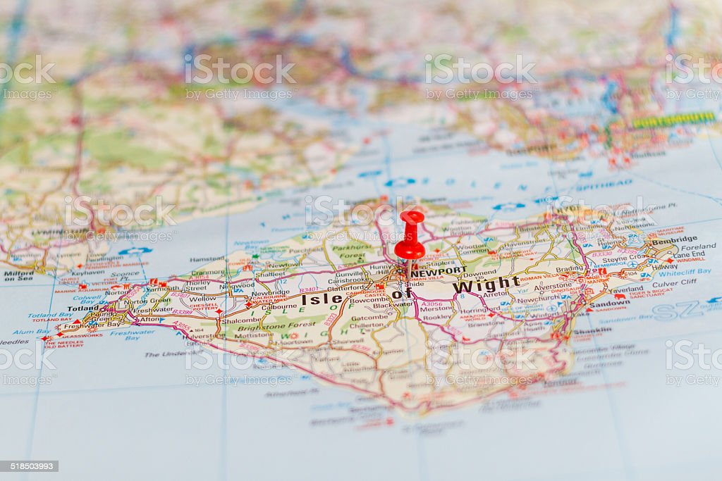 Travel destination - Isle of Wight stock photo