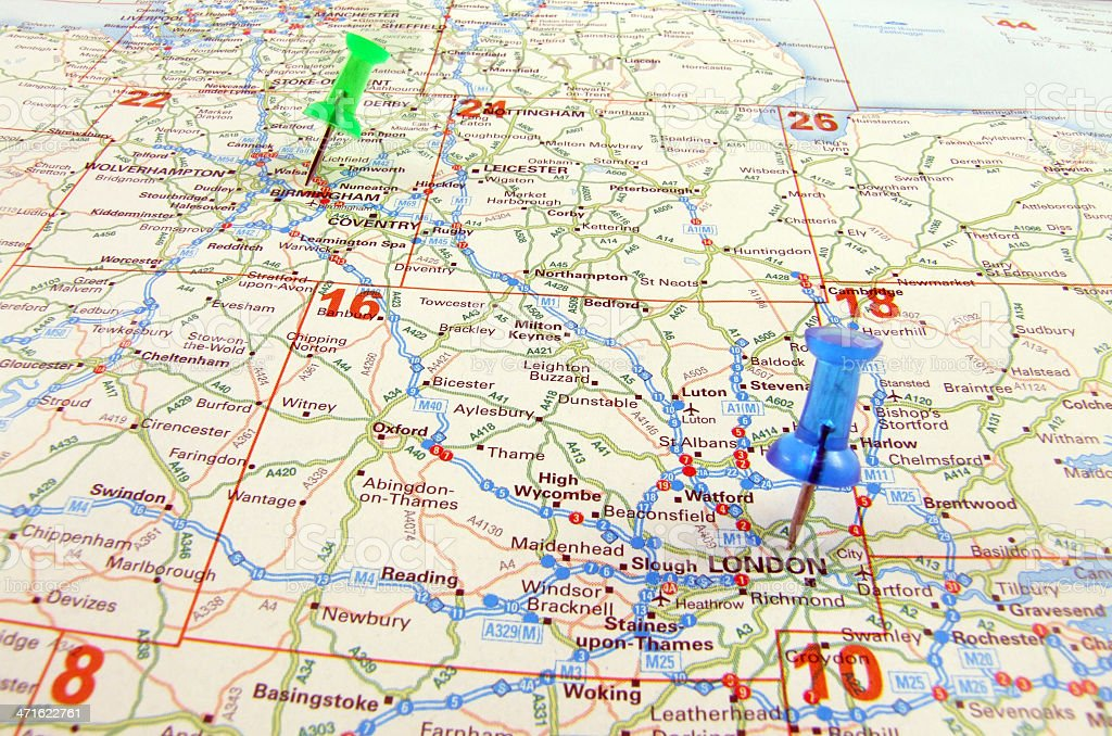 Travel Destination London to Birmingham stock photo