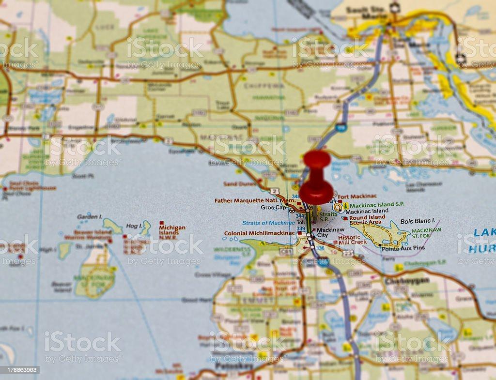 Travel destination - Mackinac stock photo