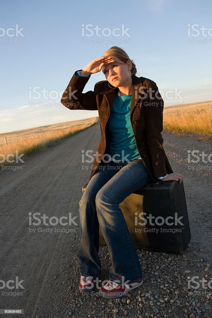 Travel / Dirt Road royalty-free stock photo