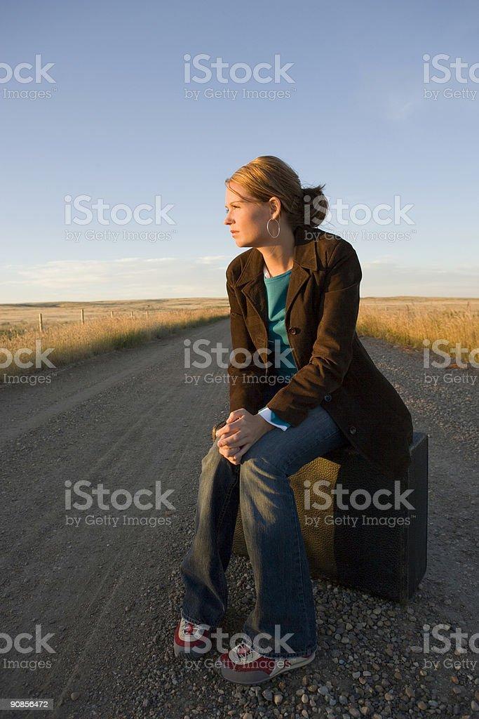 Travel / Dirt Road / Waiting 2 royalty-free stock photo