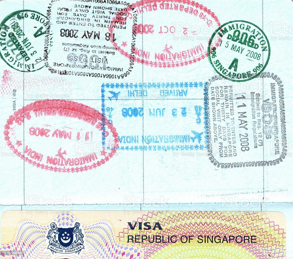 Travel documents stock photo