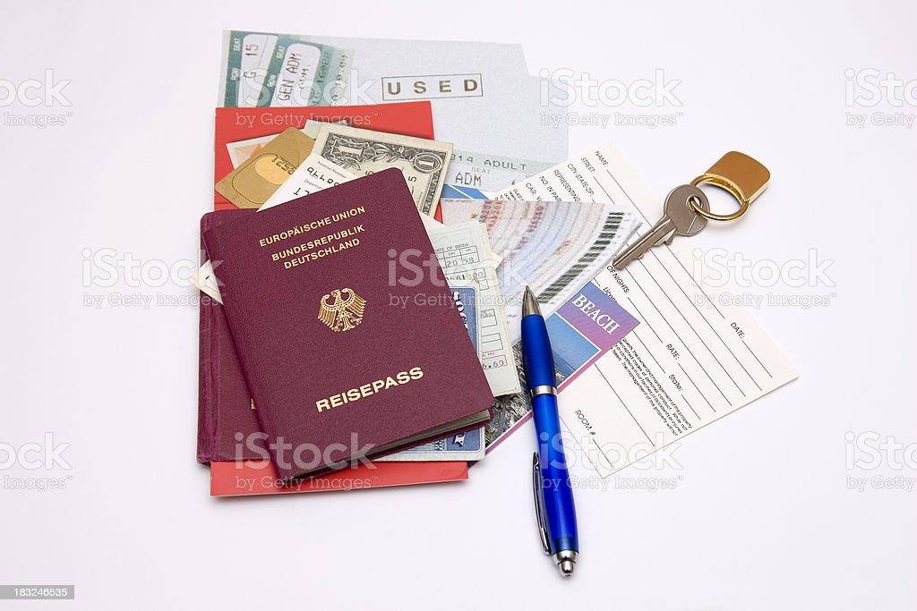 Travel Documents royalty-free stock photo
