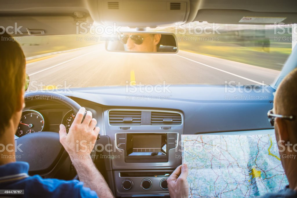 Travel Driving the car stock photo