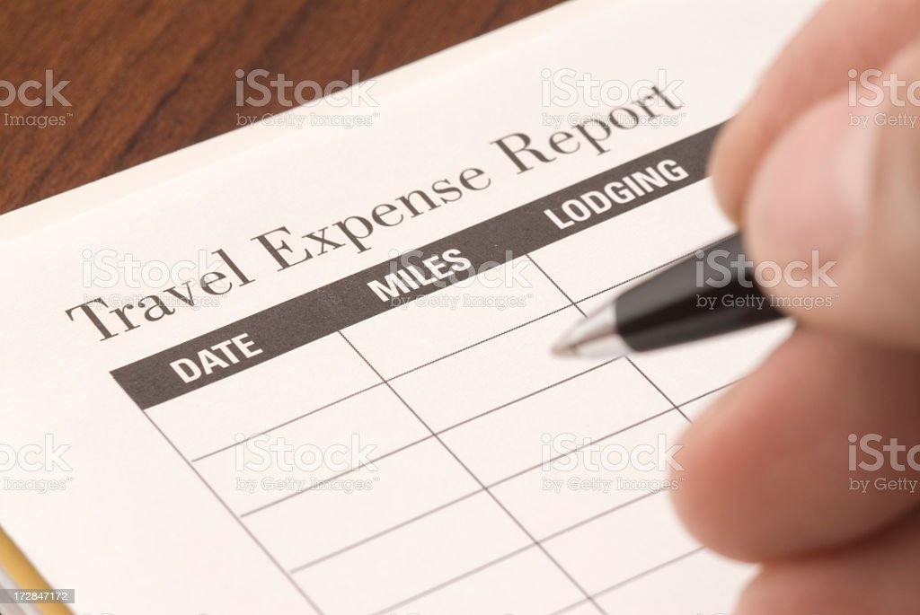 Travel Expense Report royalty-free stock photo