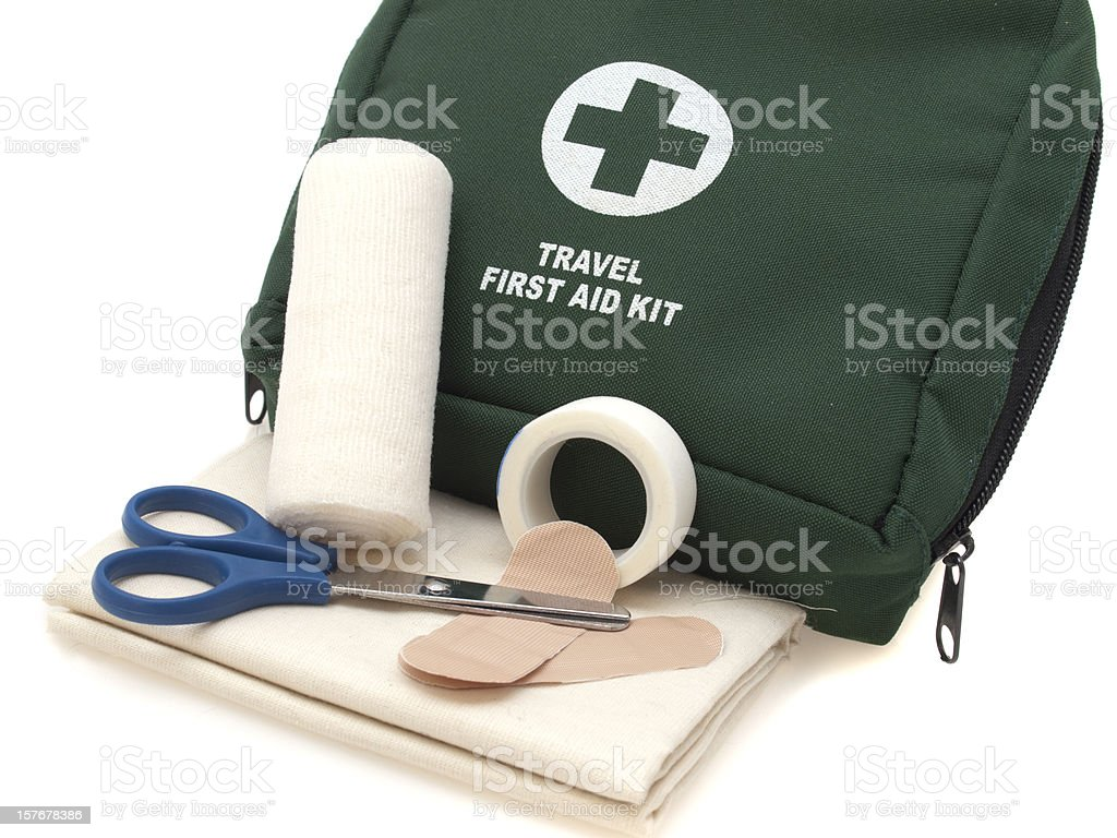 Travel First Aid Kit royalty-free stock photo