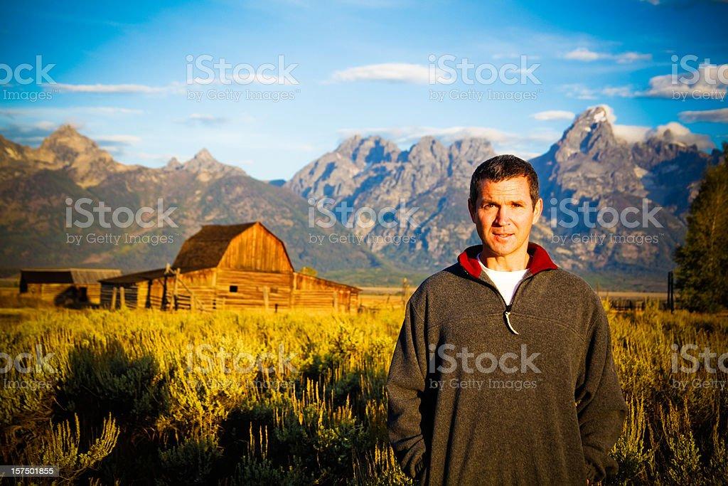 Travel Grand Tetons National Park stock photo
