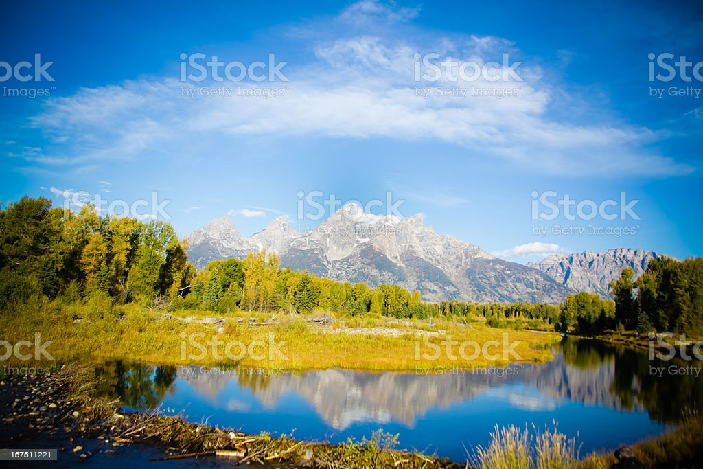 Travel Grand Tetons National Park stock photo