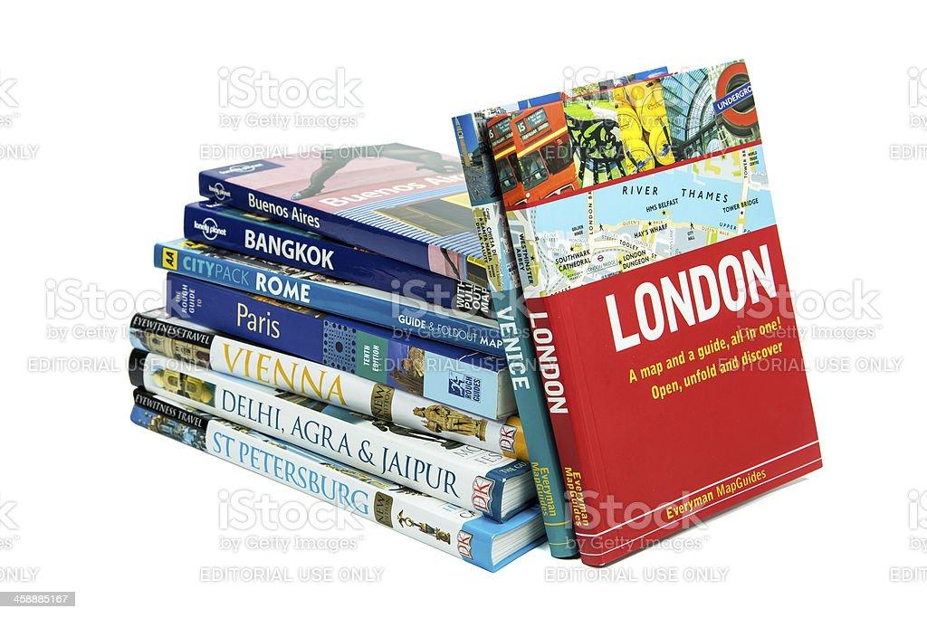 Travel Guide Books - Great Cities Of The World stock photo