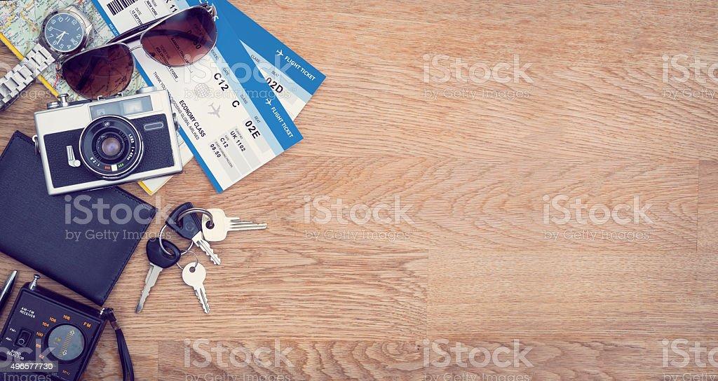 Travel hero header stock photo