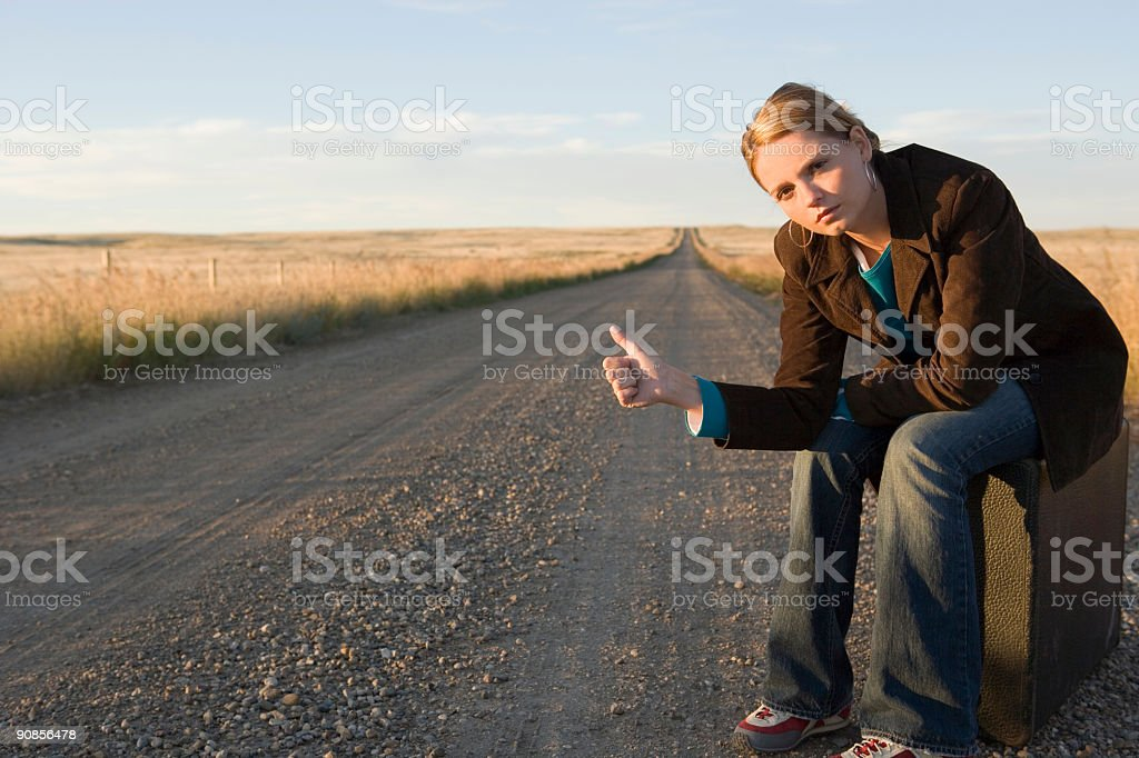 Travel / Hitch hiking stock photo