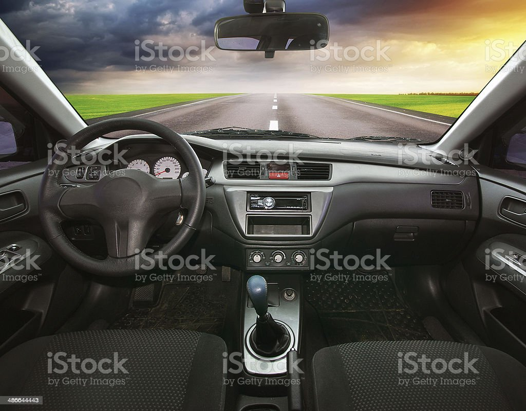 Travel in car. stock photo