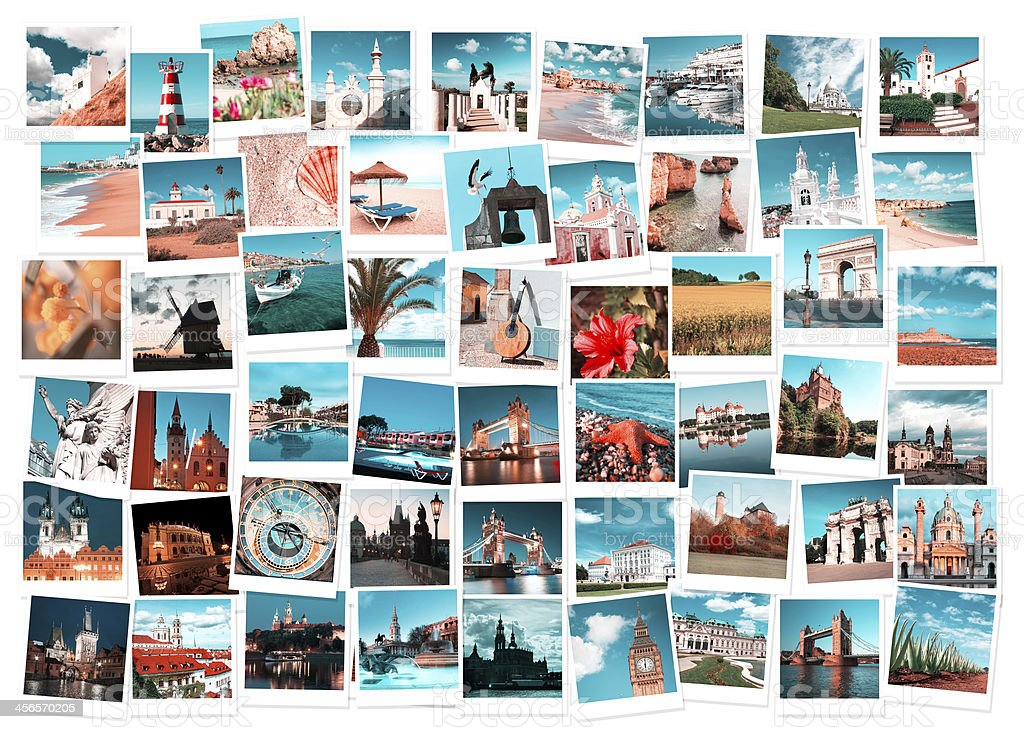 Travel in Europe collage stock photo