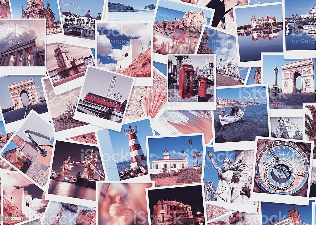 Travel in Europe, collage stock photo