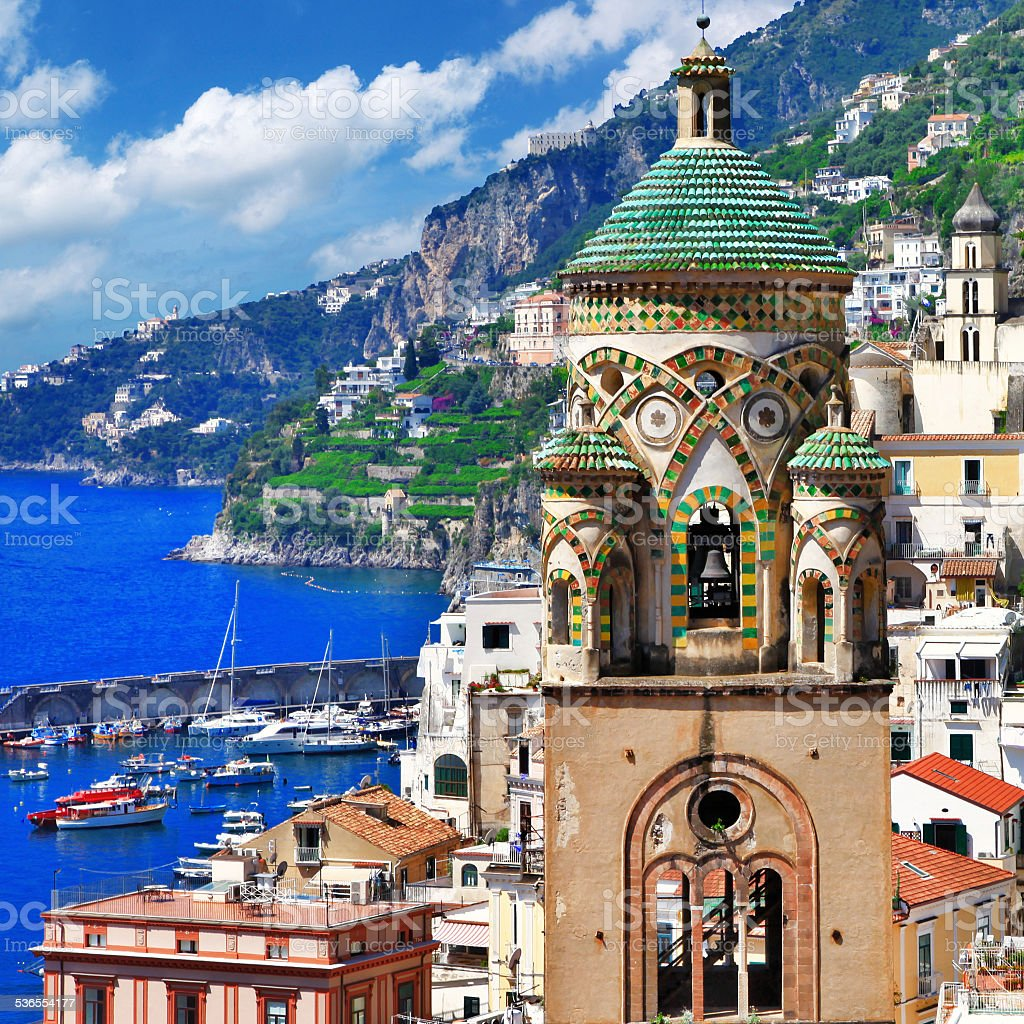 Travel in Italy.Amalfi. stock photo
