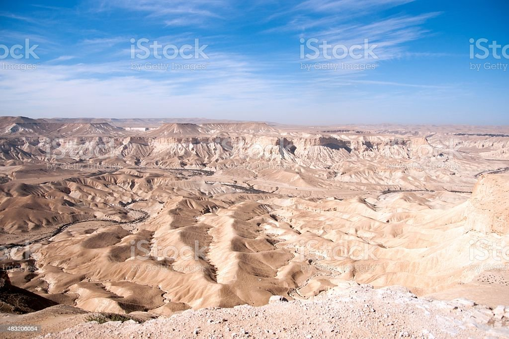 Travel in Negev desert, Israel stock photo