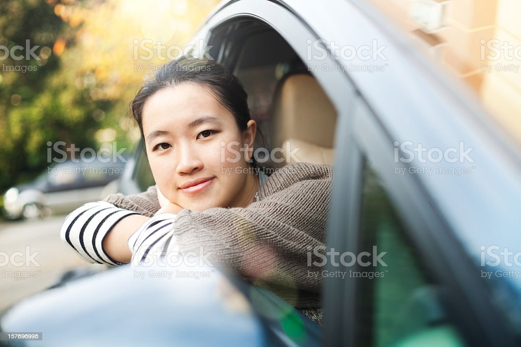 Travel in the car stock photo