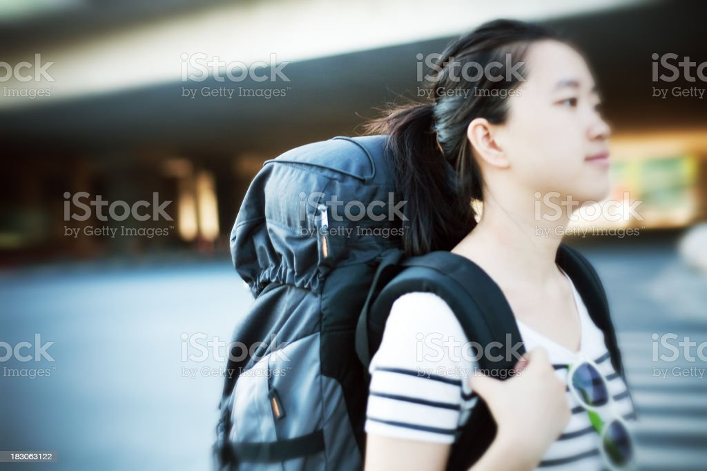 Travel in the city royalty-free stock photo
