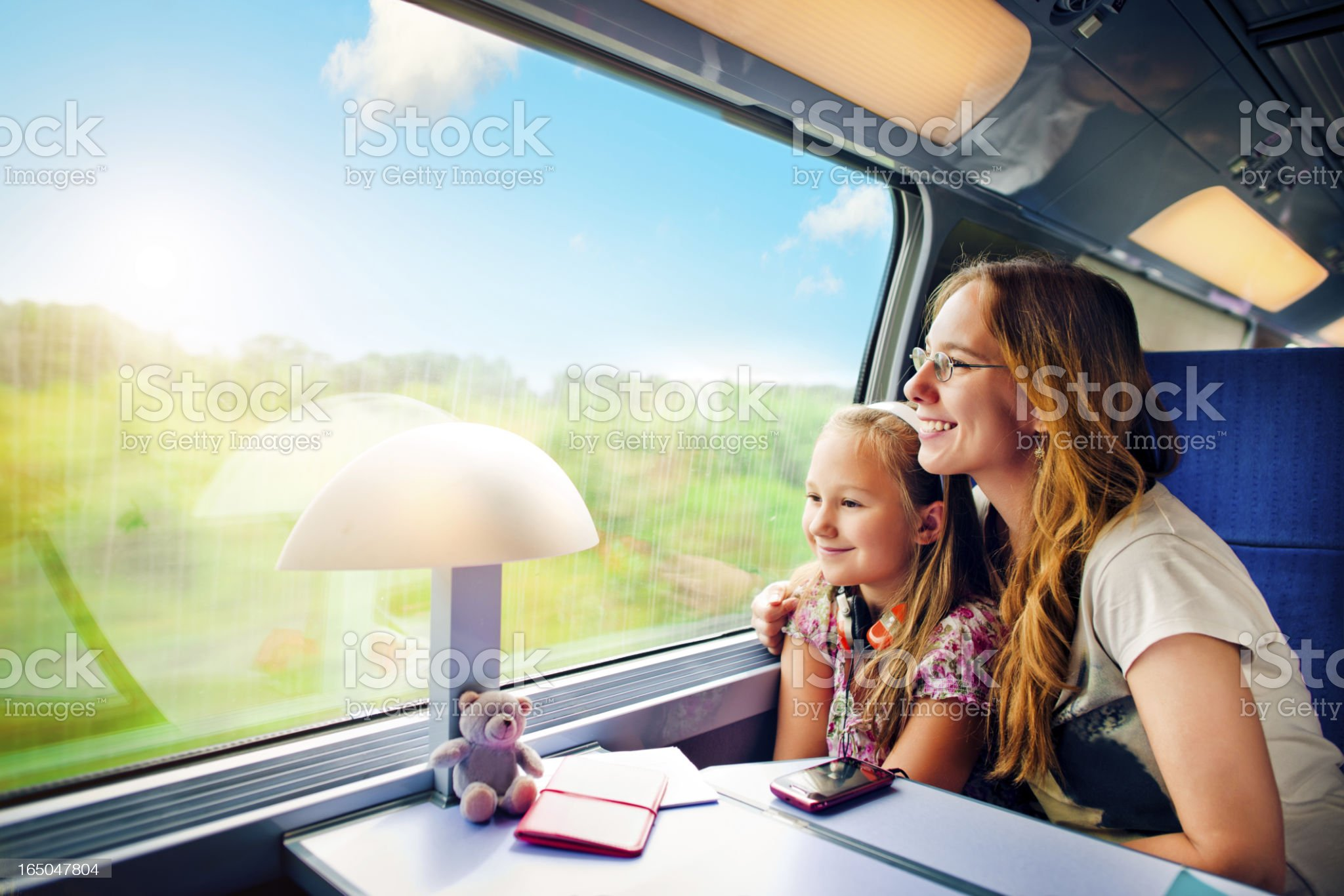 Travel in train royalty-free stock photo