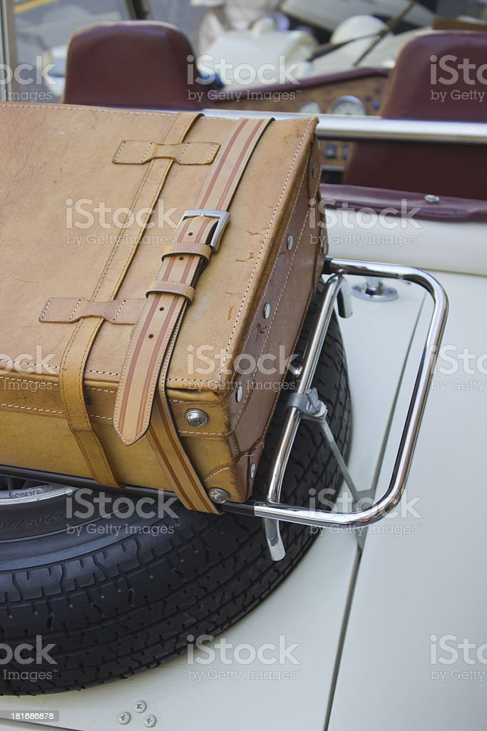Travel in vintage car royalty-free stock photo