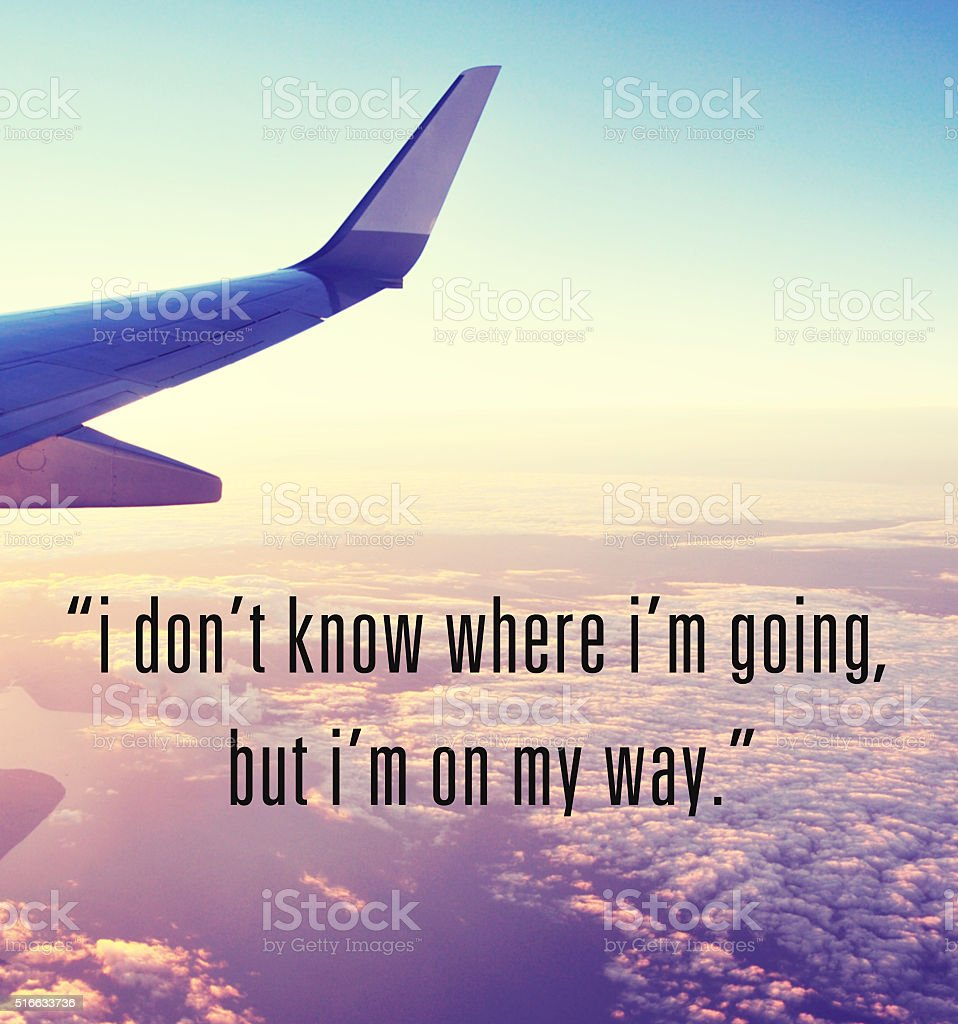 Travel inspirational quote stock photo