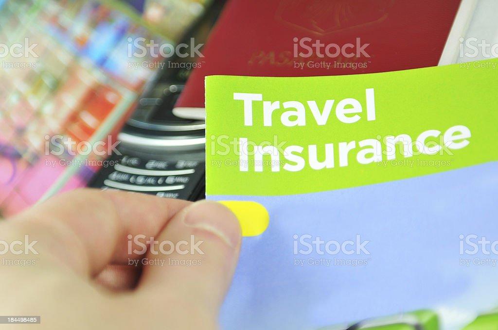 Travel insurance stock photo
